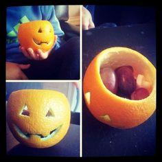 Appelsin på Halloween