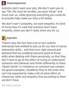 yoooo apology #765376327785 for self-diagnosing as autistic i was isolated and i wanted a place where people were facing the same difficulties i do; signal boost this sort of pin to help take fixing our assumptions off our ND homie's hands! #autismacceptanceorgtfo