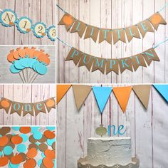 Our Little Pumpkin is Turning One Party Package, Pumpkin Boy Birthday, Little Pumpkin Decor, Blue Pumpkin Party, Fall First Birthday Decor Fall First Birthday, Fall 1st Birthdays, Pumpkin 1st Birthdays, Pumpkin First Birthday, 1st Boy Birthday, Boy Birthday Parties, Birthday Ideas, Birthday Celebrations, Little Pumpkin Party