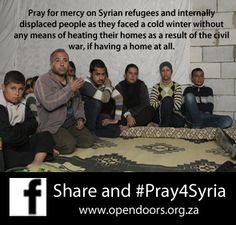 Pray for Syrian refugees
