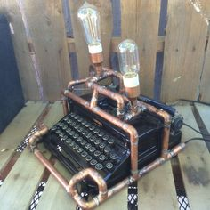 1935 Corona Standard Steampunk Typewriter by OldWorldMANtiques