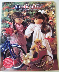 10 American Girl Doll Catalogs From Your Past  You will totally recognize these covers and spreads. And you will still want EVERYTHING. Mini-plastic foods OMG.    -- I totally remember the 96 and 98 catalogs. Especially this cover because I had the Samantha doll and my sister had the Molly doll. :)
