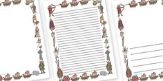 Twinkl Resources >> Viking Page Borders  >> Thousands of printable primary teaching resources for EYFS, KS1, KS2 and beyond! vikings, England, page border, border, writing template, writing aid, history, longboat, Scandinavian, explorers, Viking Age, longship, Norse, Norway, Wessex, Danelaw, York, thatched house, shield,