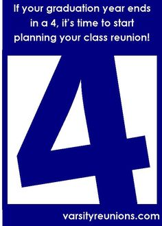 It will be 2014 before you know it!  Now is the time to start planning your high school reunion!