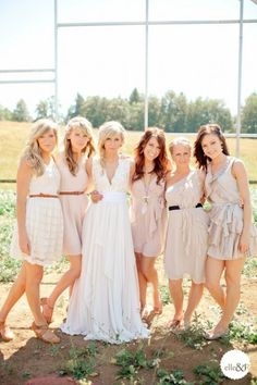 mismatched casual bridesmaids... They read my mind!
