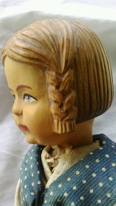 Brienz Jointed Doll Hand Carved Swiss Linden Wood 1930s