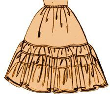 Anleitung für drei verschiedene Petticoat Varianten, Unterrock