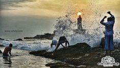 Breaking the waves at Kanyakumari beach A beautiful view of the Thiruvalluvar statue! Breaking The Waves, Kanyakumari, Flatlay Styling, Life Is Hard, Photo Essay, The Wiz, Incredible India, Tourism, The Incredibles