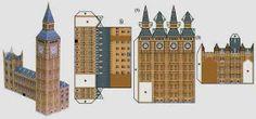 PAPERMAU: The Big Ben In London Miniature Paper Model - by Hanae Nozaka