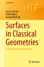 Surfaces in classical geometries : a treatment by moving frames  Jensen, Gary R. New York, NY : Springer Science+Business Media, 2016 Novedades Septiembre 2016