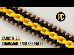 How to make Sanctified Chainmail Endless Falls Paracord Bracelet Designs, Paracord Projects, Paracord Bracelets, Survival Bracelets, Hemp Bracelets, Paracord Braids, Paracord Knots, 550 Paracord, Paracord Tutorial