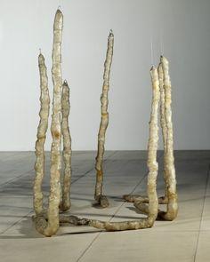 Eva Hesse (1936 - 1970)  (Untitled (Seven Poles)) 1970