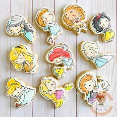 Crazy Cookies, Fancy Cookies, Cut Out Cookies, Royal Icing Cookies, Sugar Cookies, Princess Cookies, Disney Cookies, Cookie Designs, Cookie Ideas