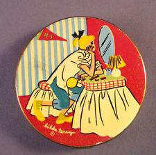 GREAT RARE Vintage Cartoonist HILDA TERRY TEEN IMAGE POWDER COMPACT