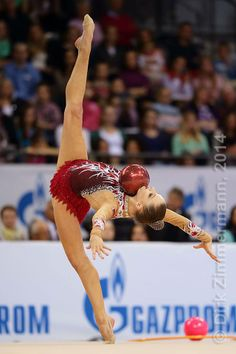 Melitina Staniouta (Belarus) /World Cup 2014 Stuttgart (GER) /photo by Dirk Zimmermann...