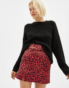 e34f62959b Mini skirt with belt - Bershka #newin #trend #trendy #cool #fashion