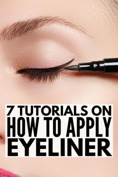 Whether you're trying to learn how to apply eyeliner properly to your top lid, bottom lash line, or your waterline, have small eyes, asian eyes, or really big eyes, prefer pencil, liquid, or gel eyeliners, we've got you covered. We're founded up 7 fabulou