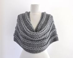 Braided Infinity Scarf Cowl Neckwarmer Chunky by reflectionsbyds, $55.00