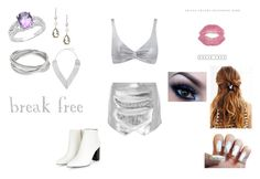 """Break Free by Ariana Grande"" by themortalinstrumentslover ❤ liked on Polyvore featuring Malaika, Edge of Ember, Dani G Jewelry, Mason by Michelle Mason, Topshop, women's clothing, women, female, woman and misses"