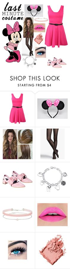 """Minnie Mouse last minute"" by my-paradise-forever ❤ liked on Polyvore featuring Pilot, Express, Disney, Miss Selfridge, MINX and Bobbi Brown Cosmetics"