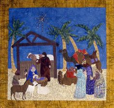 Nativity PDF Machine Applique Pattern by Debora by critterpat, $11.95