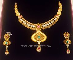 Gold+Necklace+Set+From+K.N+Jewellers