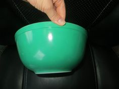 Green Primary Pyrex Bowl 403 2.5 Q Numbered USA Hard to Find