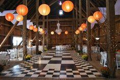 Décoration rustique lanterne mariage campagnard
