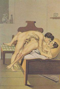 Las litografías de Peter Fendi son bien conocidas por su hedonista, divertida y humorística forma de expresar encuentros sexuales idealizados