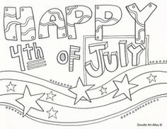 Independence Day and other patriotic coloring pages from