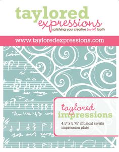 Musical Swirls Impression Plate