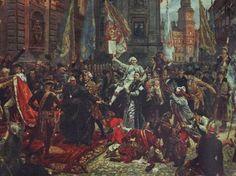 Sejm Czteroletni po burzliwej debacie 3 maja 1791 r. przyjął przez aklamację ustawę rządową, która przeszła do historii jako Konstytucja 3 Maja. Była drugą na świecie i pierwszą w Europie ustawą regulującą organizację władz państwowych, prawa i obowiązki obywateli.