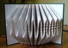 Folded book art waves I recycled book art by DancingGreyStudio, $45.00