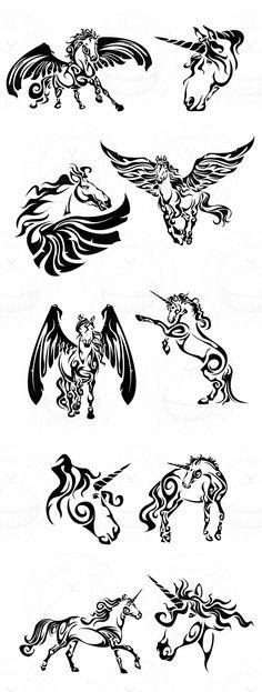 Fantasy Tribal Horses 4 Left