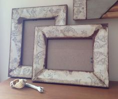 Reclaimed wood photo frames from www.freerangeframes.co.uk