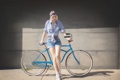 Vintage (via Panhandle Slim Tie Top, Levi's Mother's Shorts, Converse Stripes - Obvious Bicycle. - Fox Fräzier | LOOKBOOK)