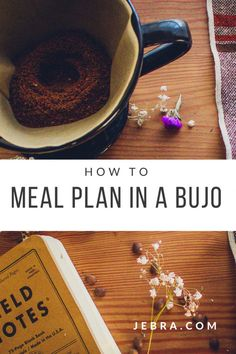 Meal plan with your bullet journal using these ideas, spreads, weekly menus.