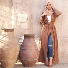 Adult Casual cardigan Muslim Fashion Abaya Muslim Adult Casual cardigan Muslim Fashion Abaya Muslim Dress Bottle green bisht - Dresses Shoes & Accessories What to Wear Hijab in Nude Scarf Fun and Colorful hijab outfits Modern Hijab Fashion, Islamic Fashion, Abaya Fashion, Muslim Fashion, Modest Fashion, Boho Fashion, Fashion Outfits, Fashion Spring, Fashion Beauty