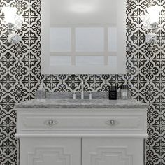 SomerTile 8x8-inch Cavado Classic Ceramic Floor and Wall Tile (Case of 25) | Overstock.com Shopping - The Best Deals on Floor Tiles