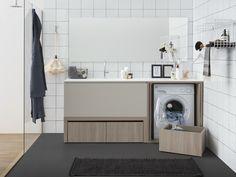 ACQUA E SAPONE BATH Mobile lavanderia con lavatoio by Birex design Monica Graffeo