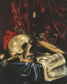 Simon Renard de Saint-André (Francia, 1614-1677). Vanitas still life, oil on canvas. - Pinterest Danse Macabre, Macabre Art, Memento Mori Art, Vanitas Paintings, Renaissance Music, Vanitas Vanitatum, Dance Of Death, Art Ancien, Francisco Goya