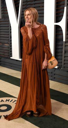 Dree Hemingway wears our #SS15 runway dress & the Drew bag at the Vanity Fair Oscar Party in Los Angeles, February 2015. #chloeGIRLS