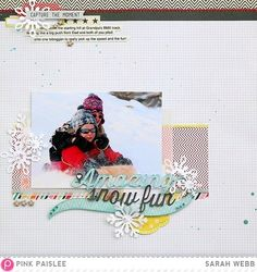 Amazing snow fun *Pink Paislee* - Scrapbook.com