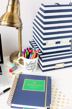 2015 Simplified Planner® DAILY Edition - Navy Dot