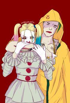 joker and harley quinn Harley Quinn Tattoo, Der Joker, Joker Art, Joker And Harley Quinn, Gotham City, Batman, Deadpool, Marvel Dc Comics, Spirit Animal