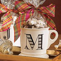 Put homemade hot cocoa mix in a personalized mug for an easy holiday gift.