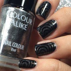Color Alike: B. a Twilight stamping polish