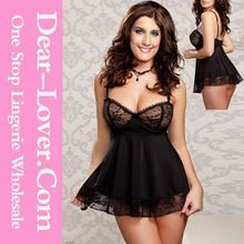 Save 10% Black Woman Sexy Hot Lingerie Babydoll with G-String   Best Buy follow this link http://shopingayo.space