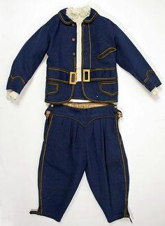 Suit Date: early 1860s Culture: American Medium: wool, linen, silk