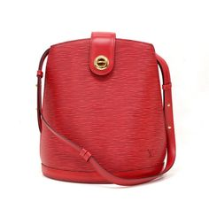 Authentic Louis Vuitton epi leather Cluny bag. It has small top flap  closure with twist 6f17588bc4eac